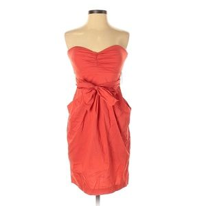 Suzi Chin for Maggy Boutique Red Strapless Dress